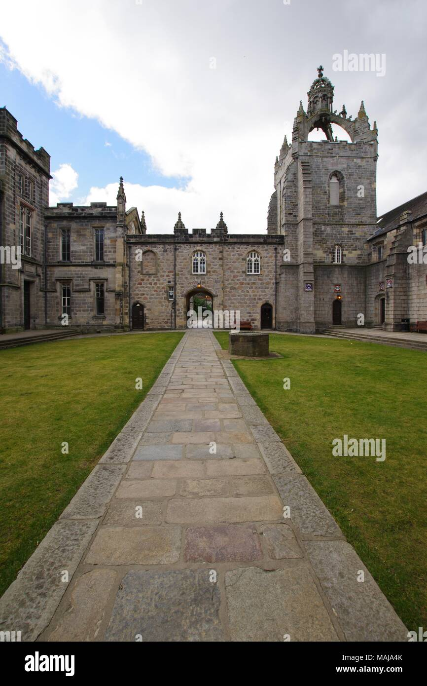 Kings College, Medieval Ecclesiastical Gothic Architecture, University of Aberdeen, Scotland, UK. - Stock Image