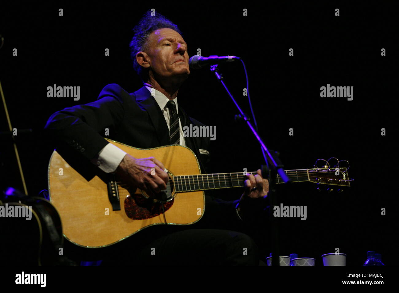 Folk Singers Lyle Lovett and Shawn Colvin performing live at the Parx Casino in Bensalem  Featuring: Lyle Lovett Where: Bensalem, Pennsylvania, United States When: 01 Mar 2018 Credit: W.Wade/WENN - Stock Image