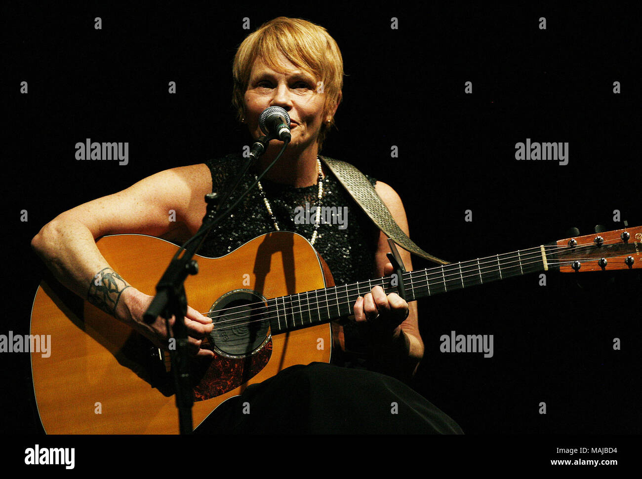 Folk Singers Lyle Lovett and Shawn Colvin performing live at the Parx Casino in Bensalem  Featuring: Shawn Colvin Where: Bensalem, Pennsylvania, United States When: 01 Mar 2018 Credit: W.Wade/WENN - Stock Image