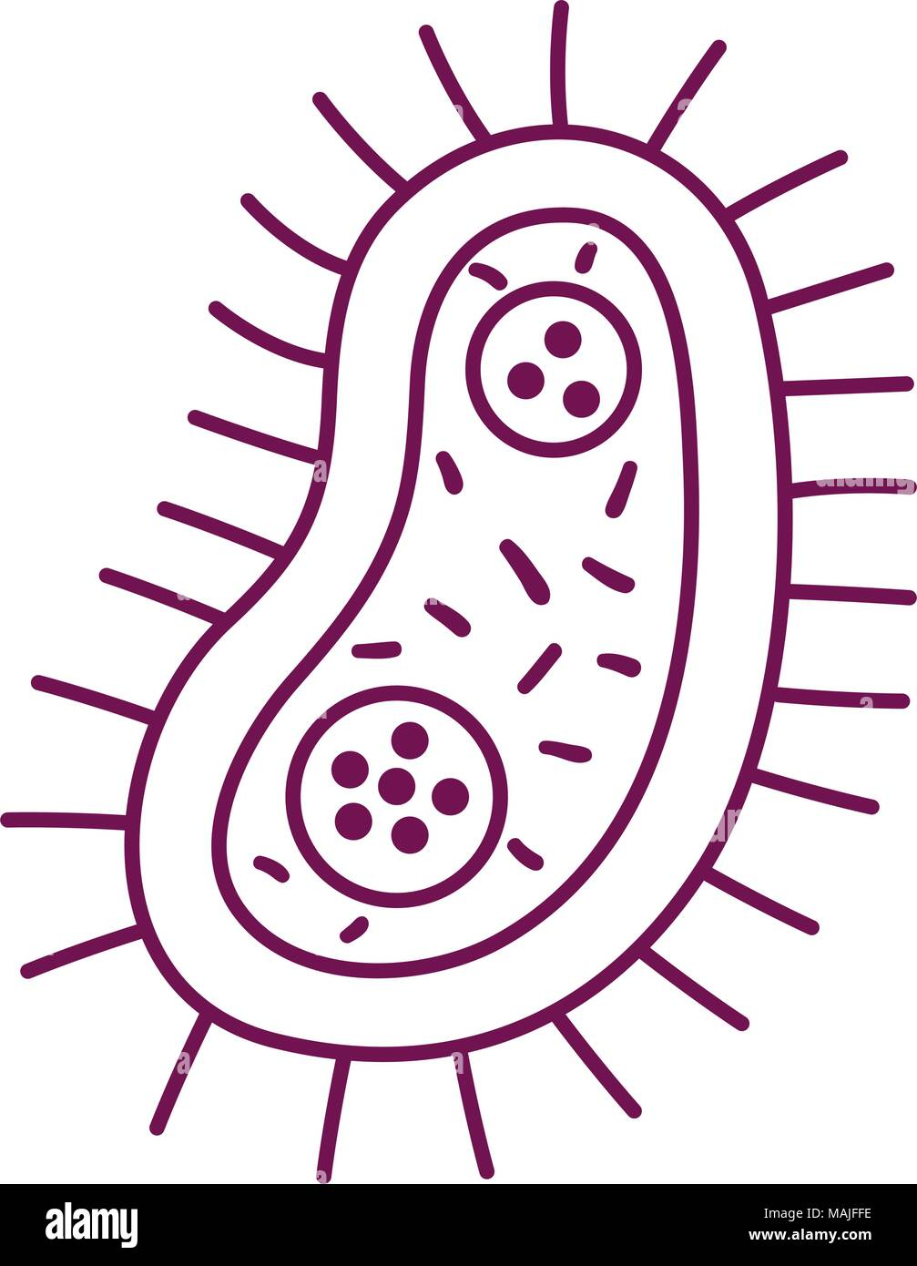 unicellular bacteria laboratory icon vector illustration design - Stock Image