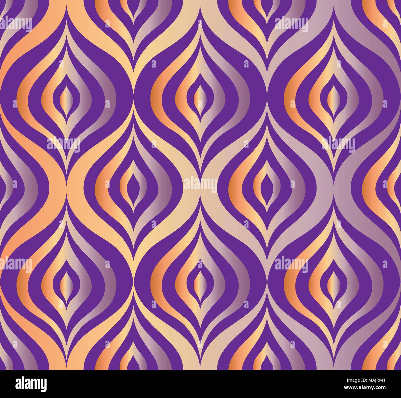 Abstract line seamless pattern in oriental style. Floral asian ornamental wallpaper - Stock Vector