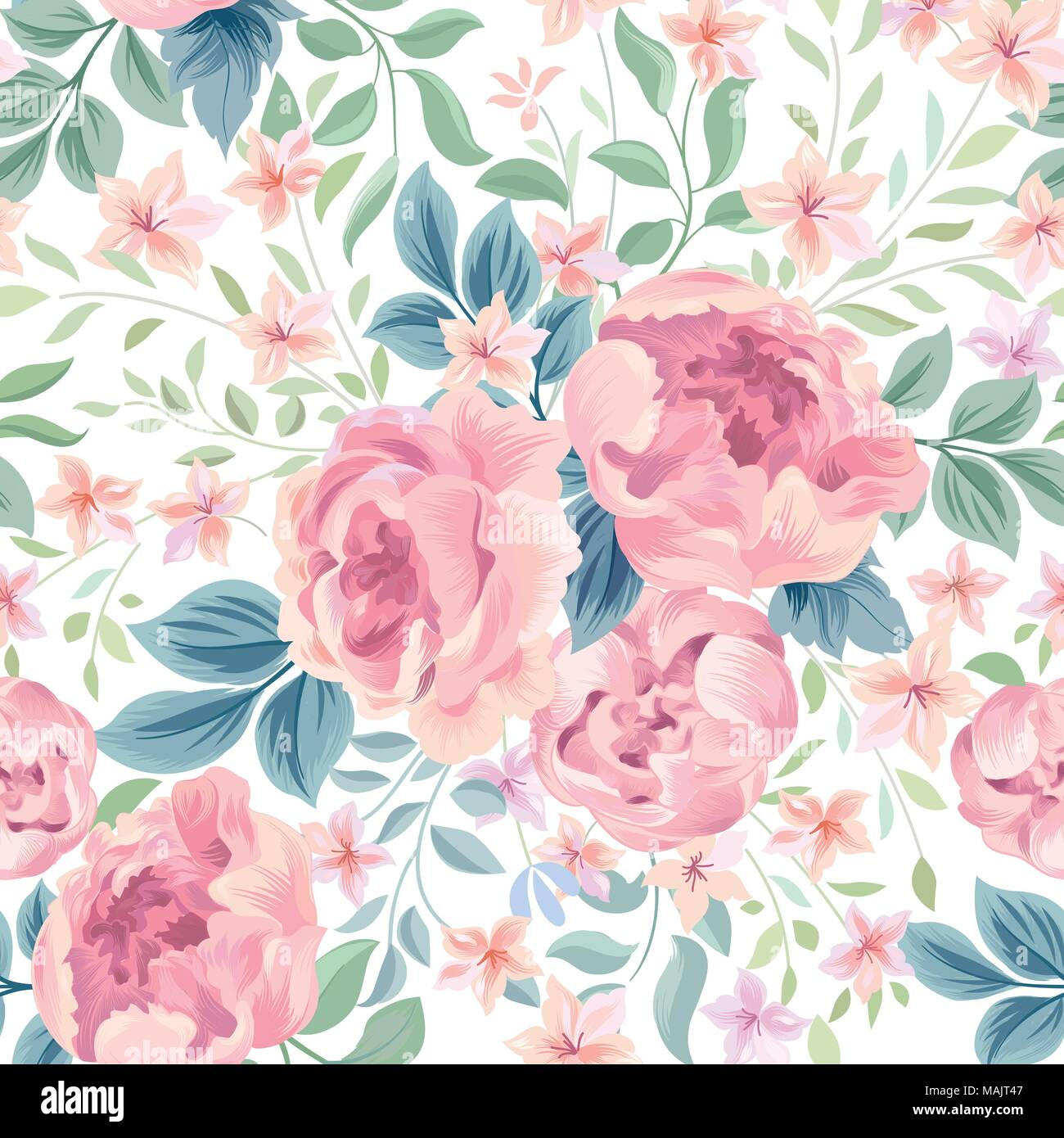 Floral Seamless Pattern Flower Background Flourish Ornamental