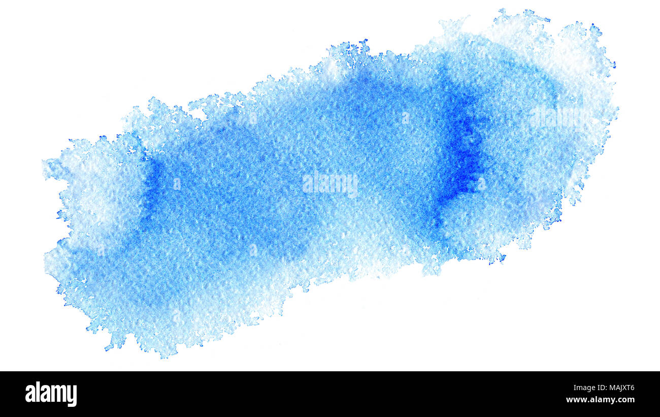 hand painted watercolor abstract soft light blue web banner
