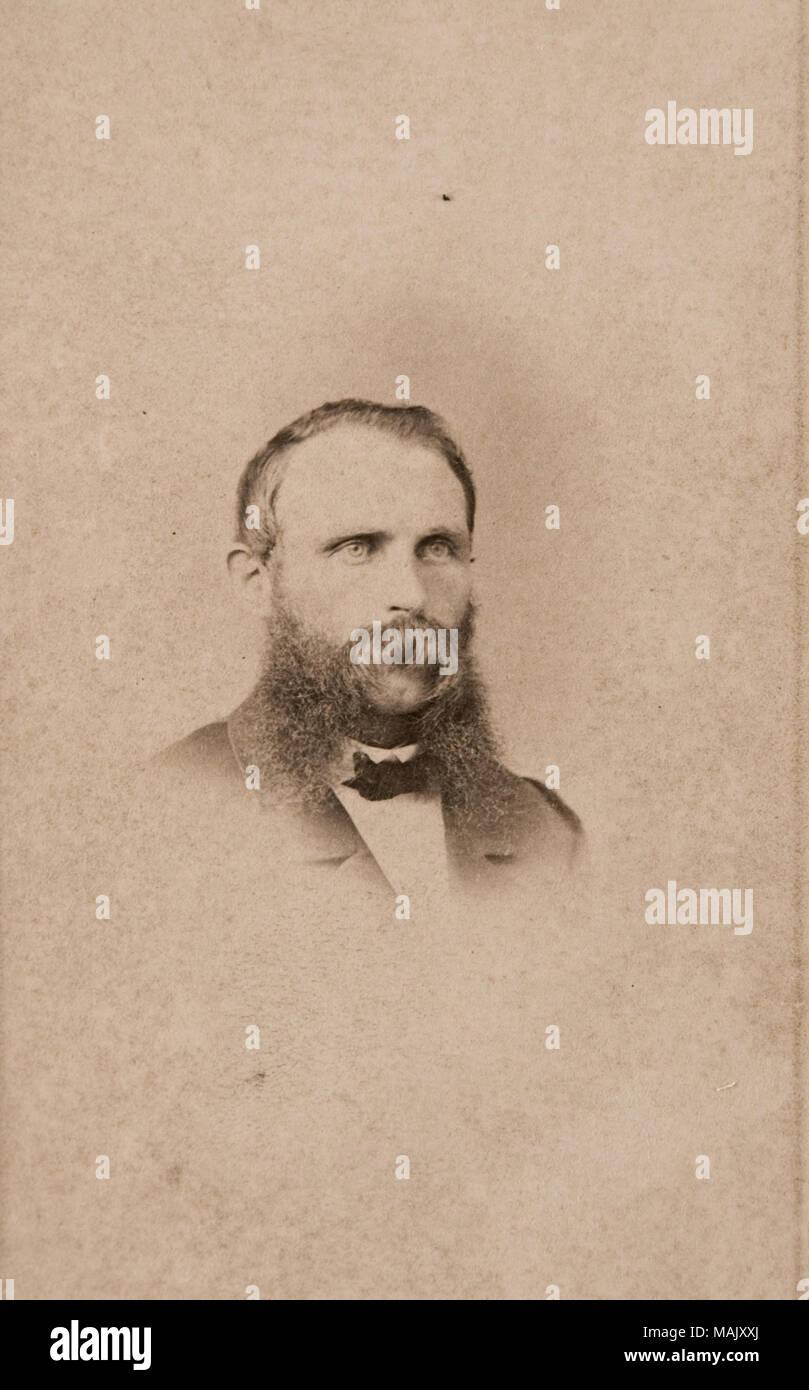 Carte De Visite Portrait Of Thomas Rice In Civilian Clothing Head Shot Subject