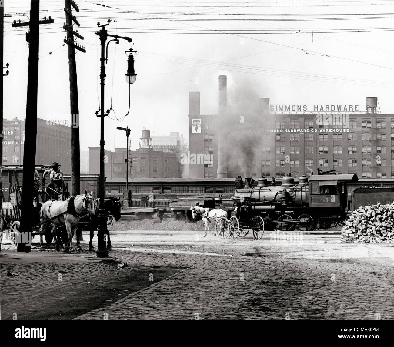 View of the intersection of Eighth and Poplar Streets ... Railroad Freight House Plans on railroad engine house, railroad freight yards, railroad freight cart, railroad freight sidings, railroad weigh scale house, railroad container house,