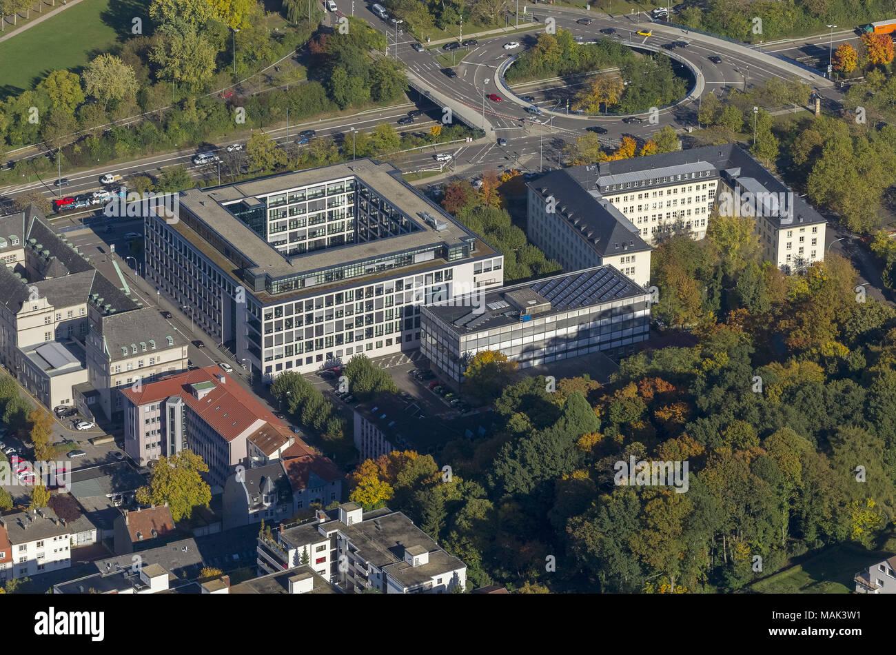 Luftbild, Ministerium für Wirtschaft, Arbeit, Energie und Verkehr, Oberlandesgericht Saarbrücken, OLG Saarbrücken, Saarbrücken, Saarland, Deutschland, - Stock Image
