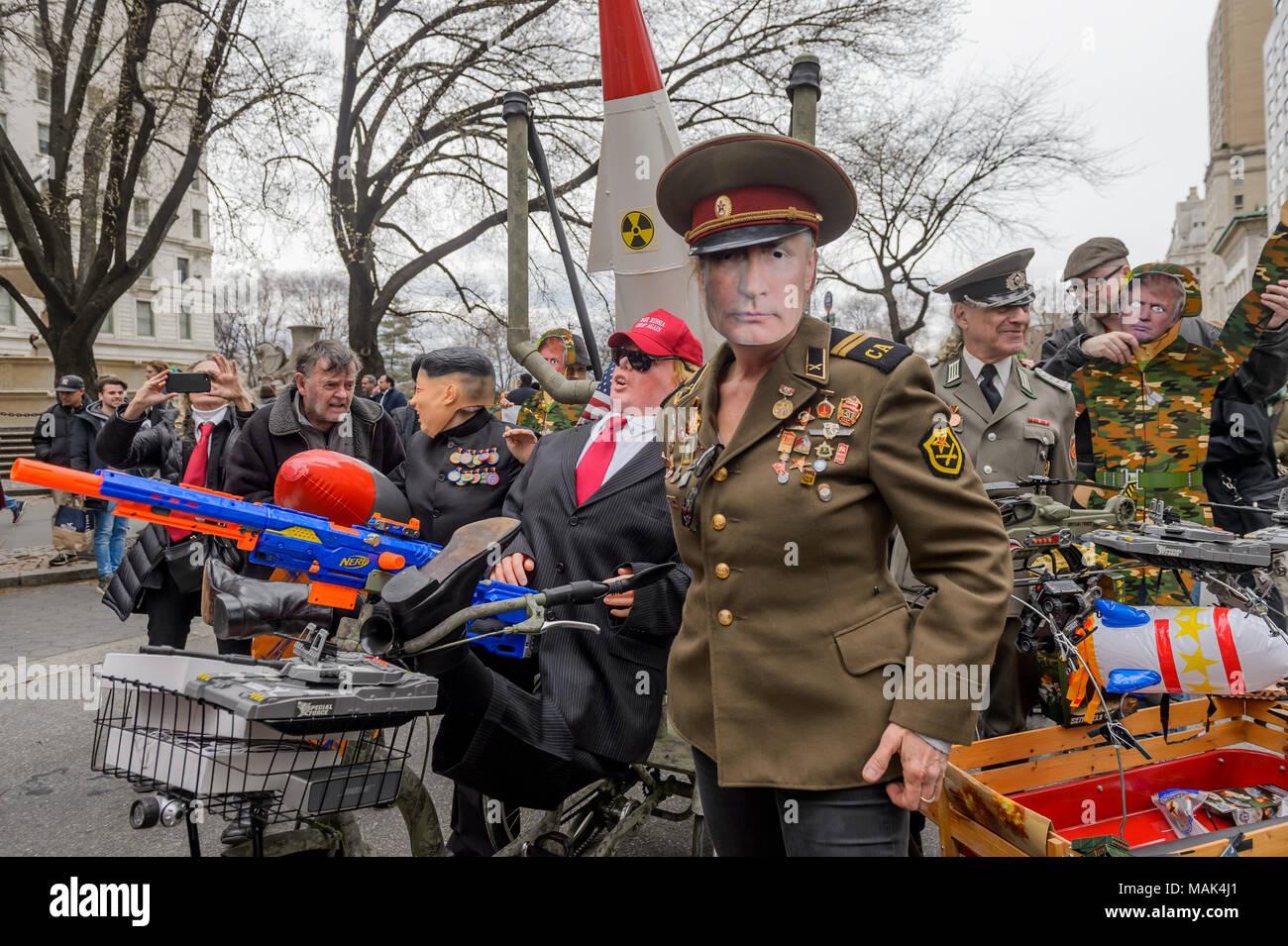 Mock Vladimir Putin leading the Military Parade - New York ...