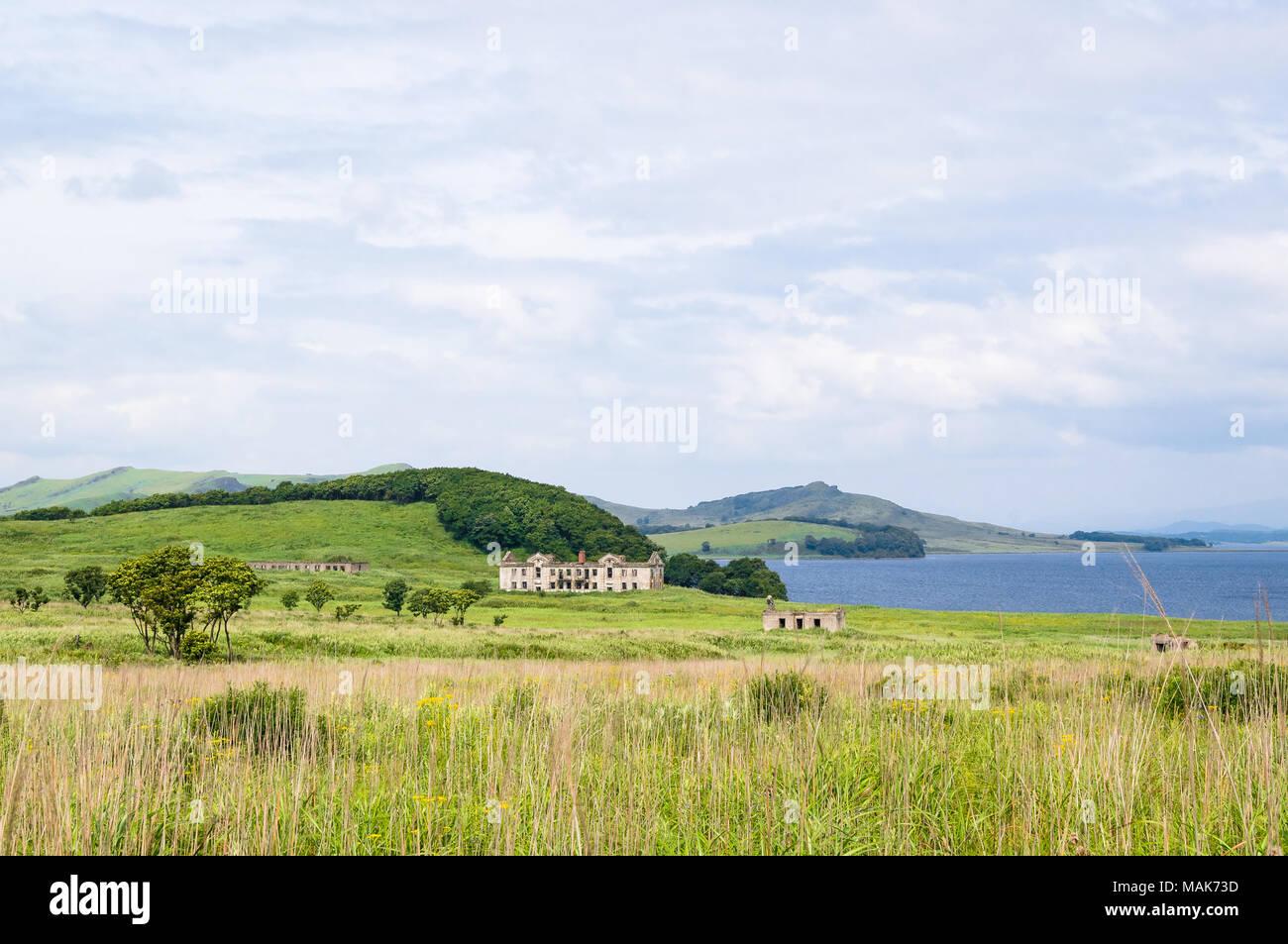The Far Eastern landscape of the Krabbe Peninsula - Stock Image