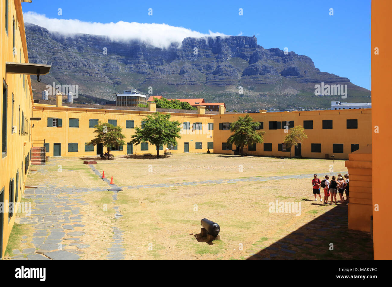 Courtyard in the Castle of Good Hope, a bastion fort, built by the Dutch East India Company between 1666 and 1679, in Cape Town, South Africa - Stock Image