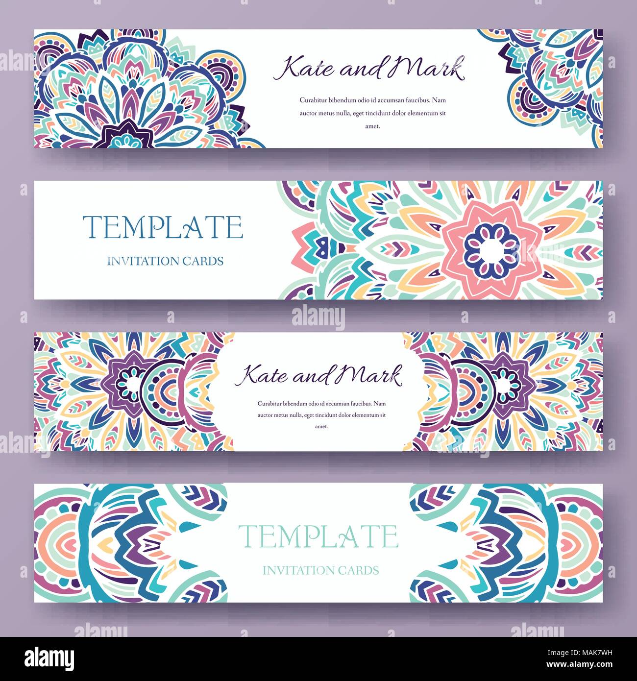 Set of ethnic ornament banners and flyer concept vintage art vintage art traditional islam arabic indian ottoman motifs elements vector decorative retro greeting card or invitation design illustration stopboris Gallery