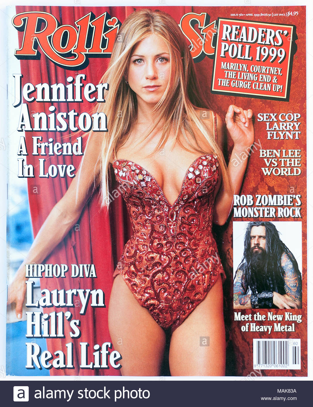 The Cover Of Rolling Stone Magazine Issue 560 Jennifer