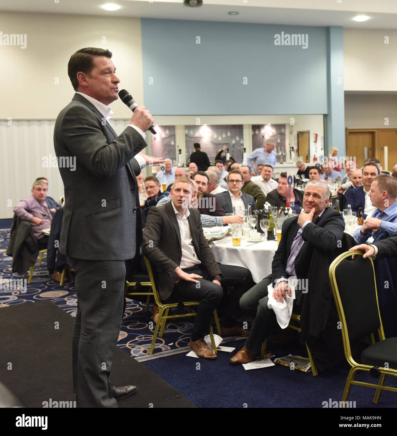 After dinner speaker former footballer Tony Cottee - Stock Image