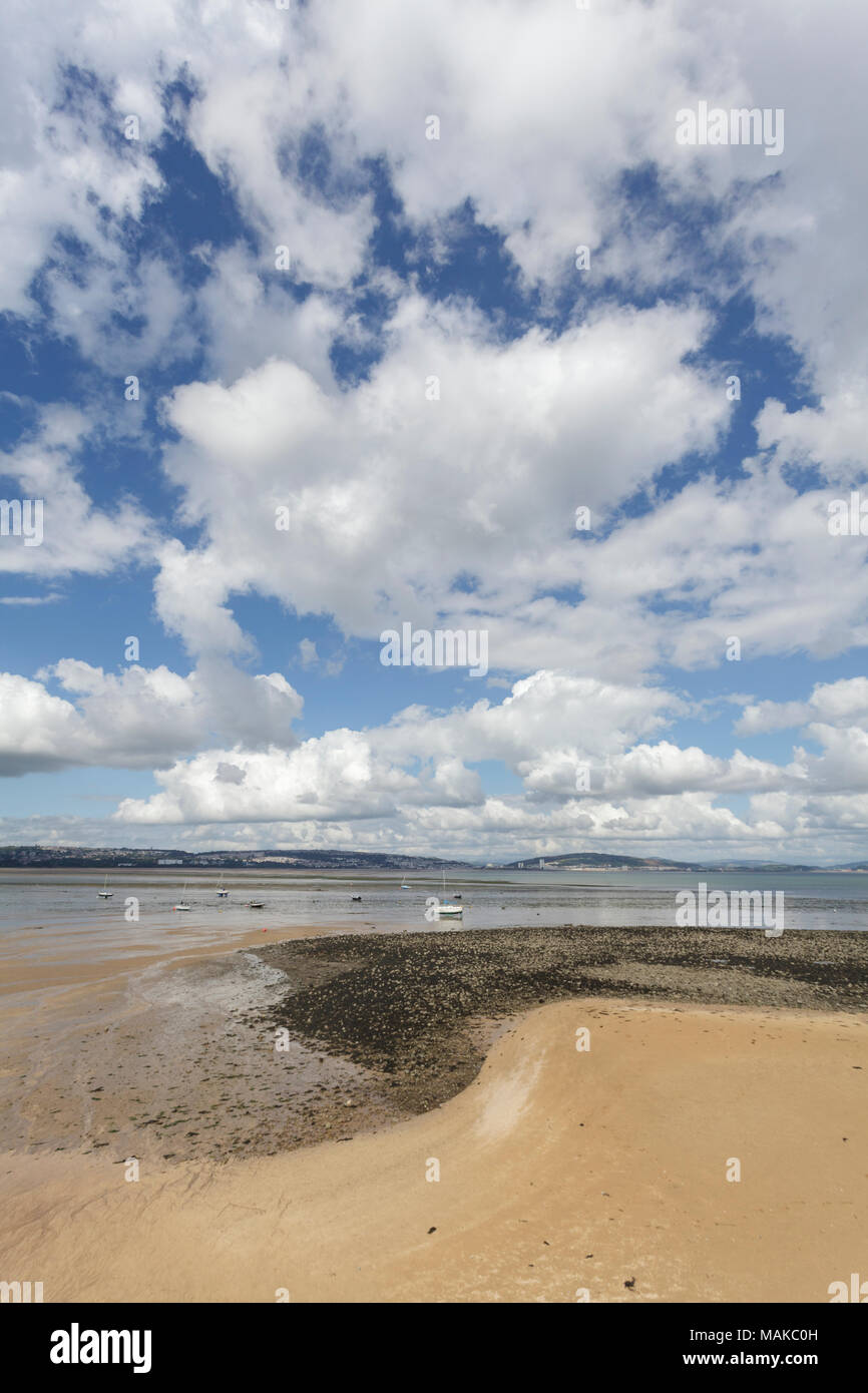 Big Skies over Swansea Bay, South Wales - Stock Image