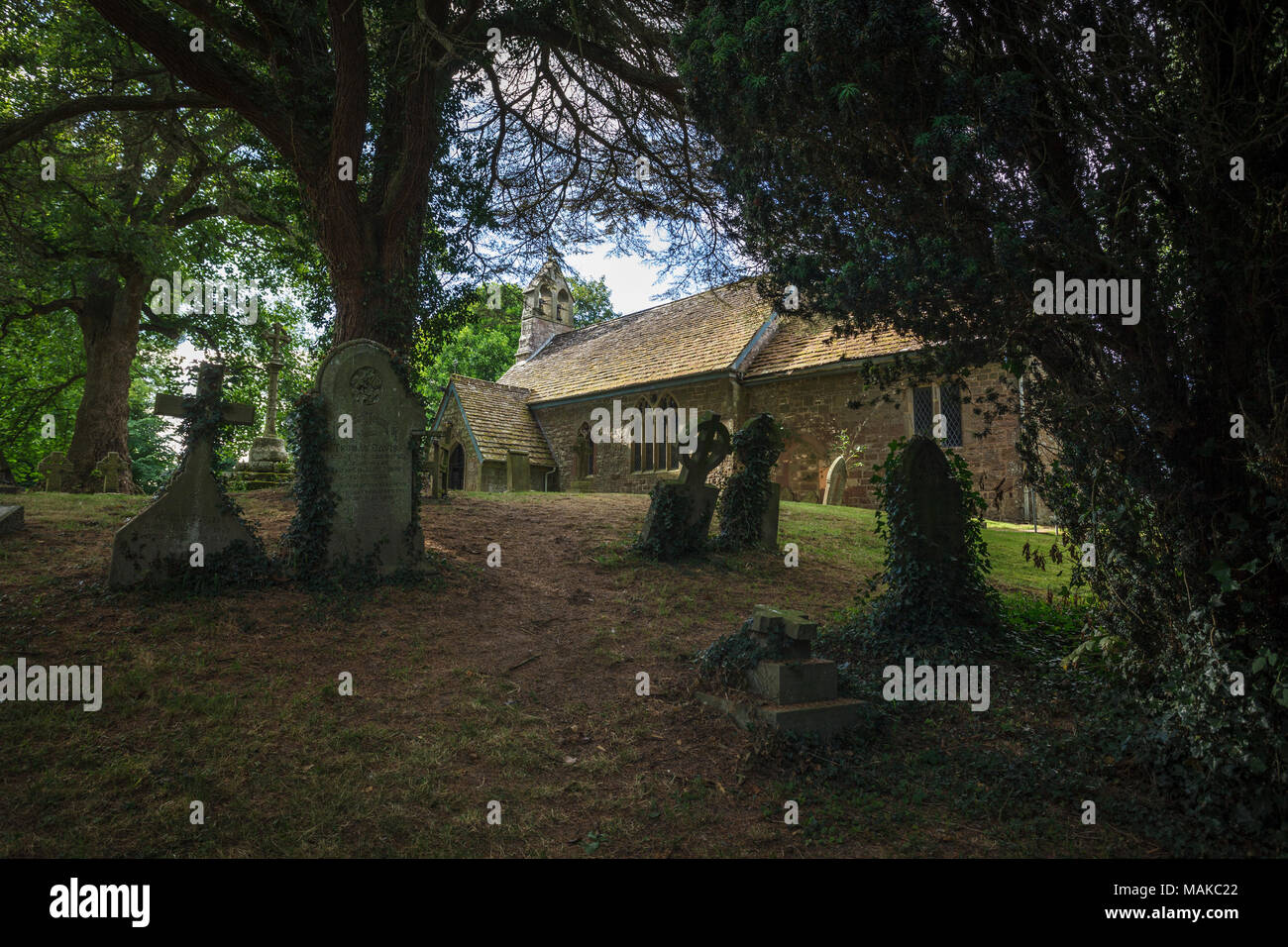 St. Dubricius Parish Church, Symonds Yat, Ross-on-Wye - Stock Image