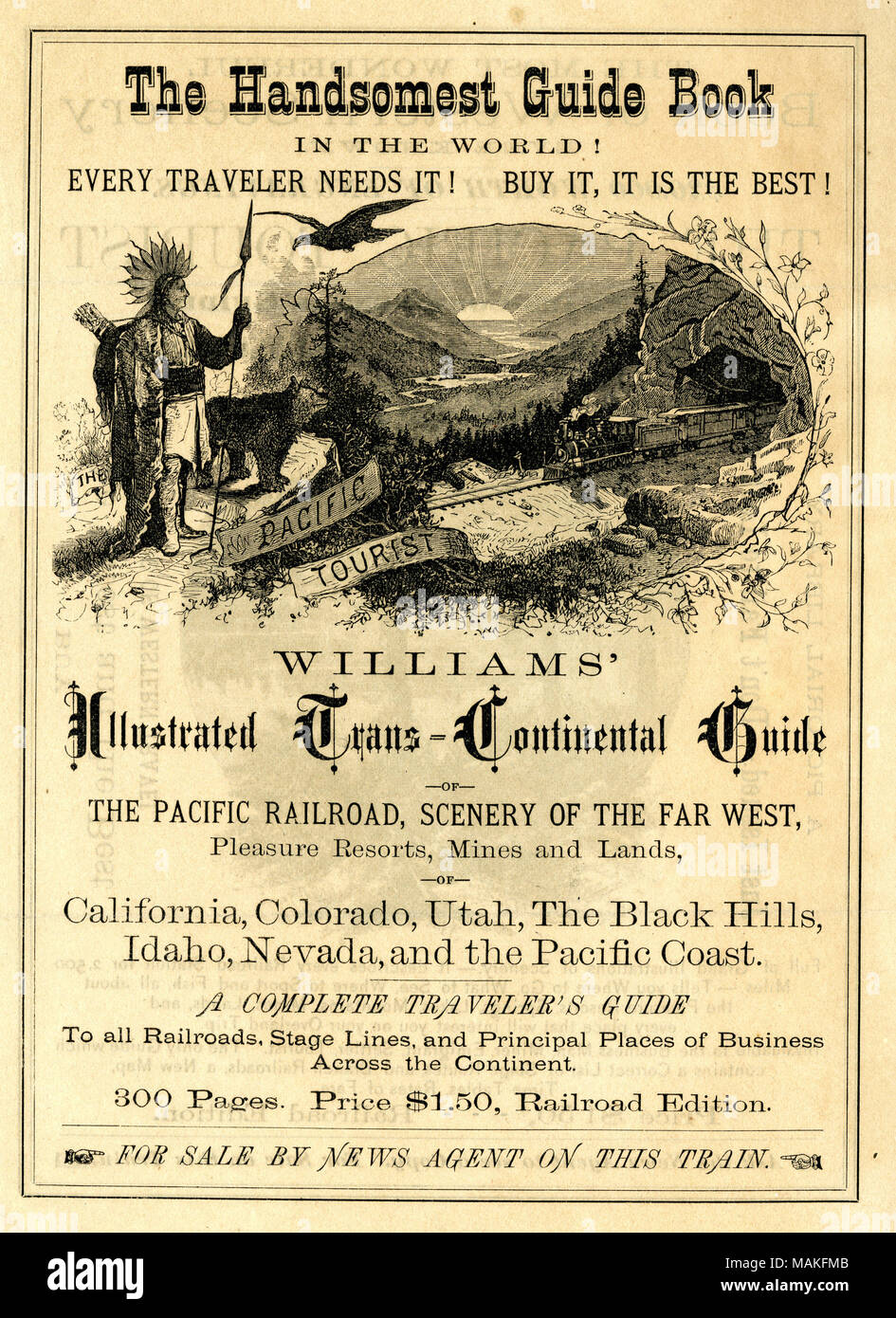 Advertises the sale of The Pacific Tourist, Williams