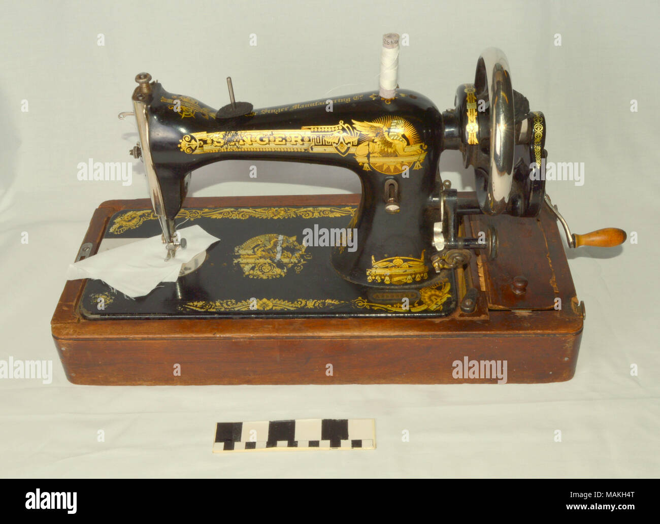 Russian Singer sewing machine and case, early 20th century