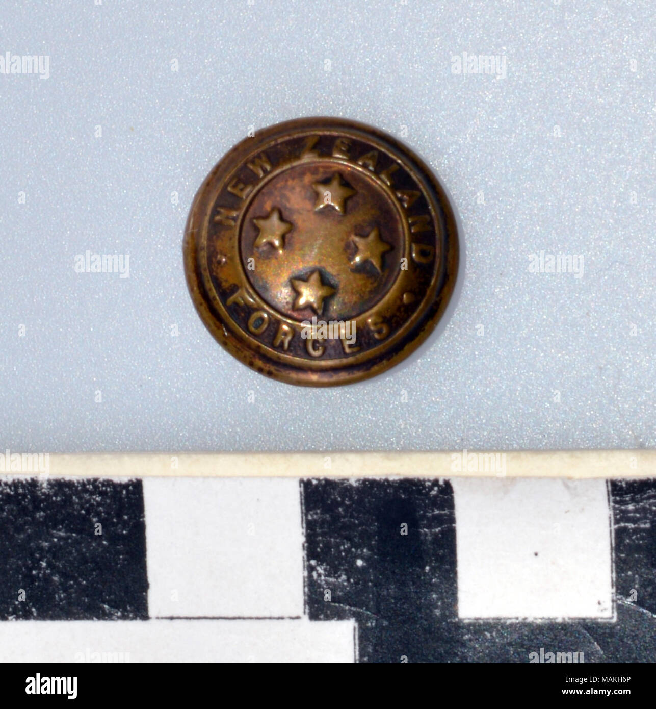 World War I New Zealand General Service brass button with