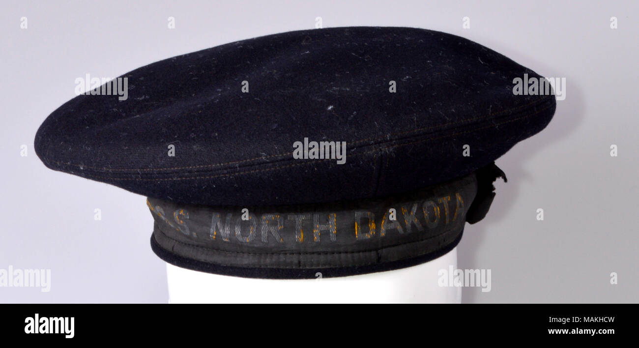 u s s north dakota blue sailors cap of robert park doman who