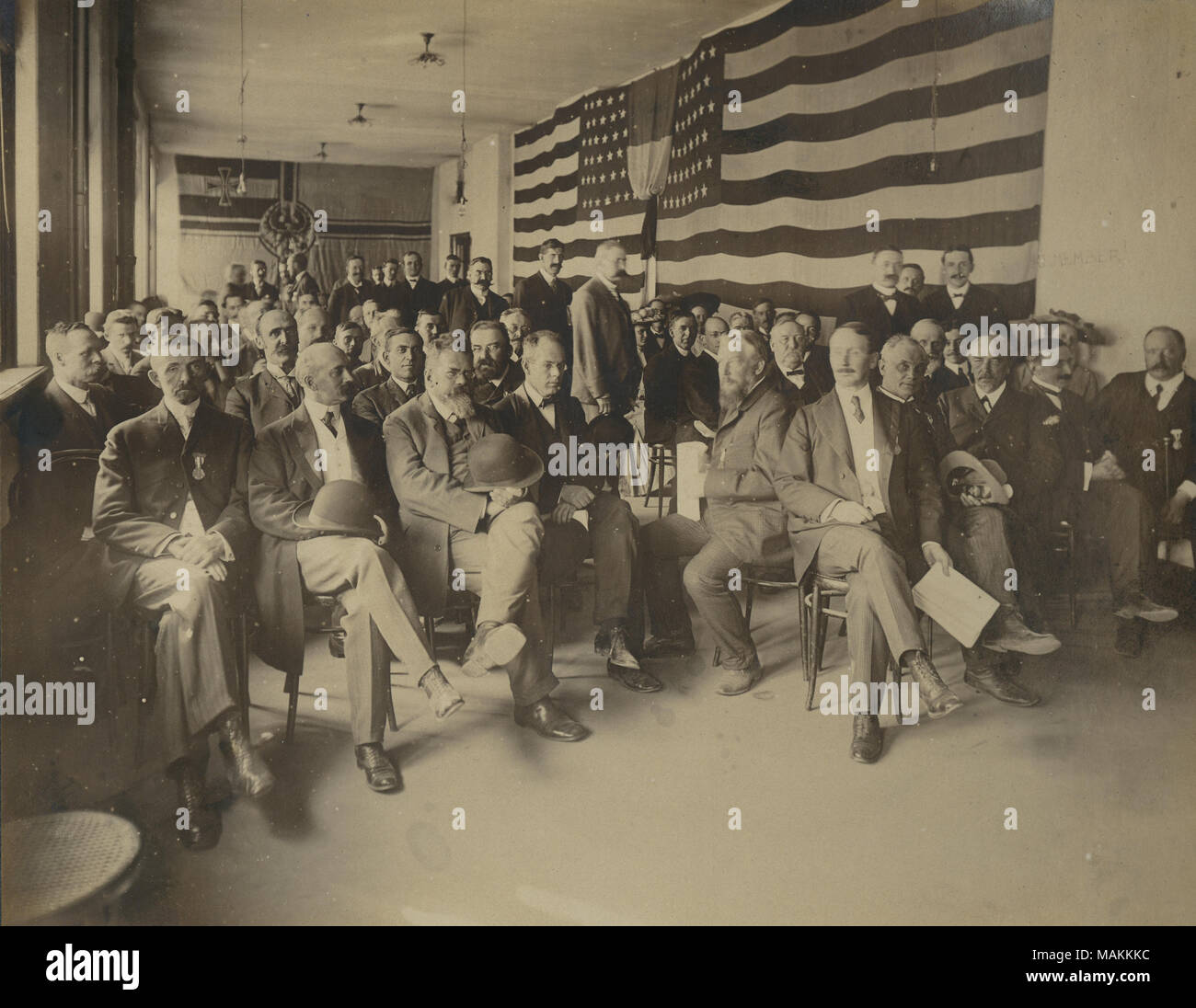 Title: 'Section on Methodology of Sciences.' International Congress of Arts and Sciences meeting in the Hall of Congresses at the 1904 World's Fair.  . 1904. Jessie Tarbox Beals - Stock Image