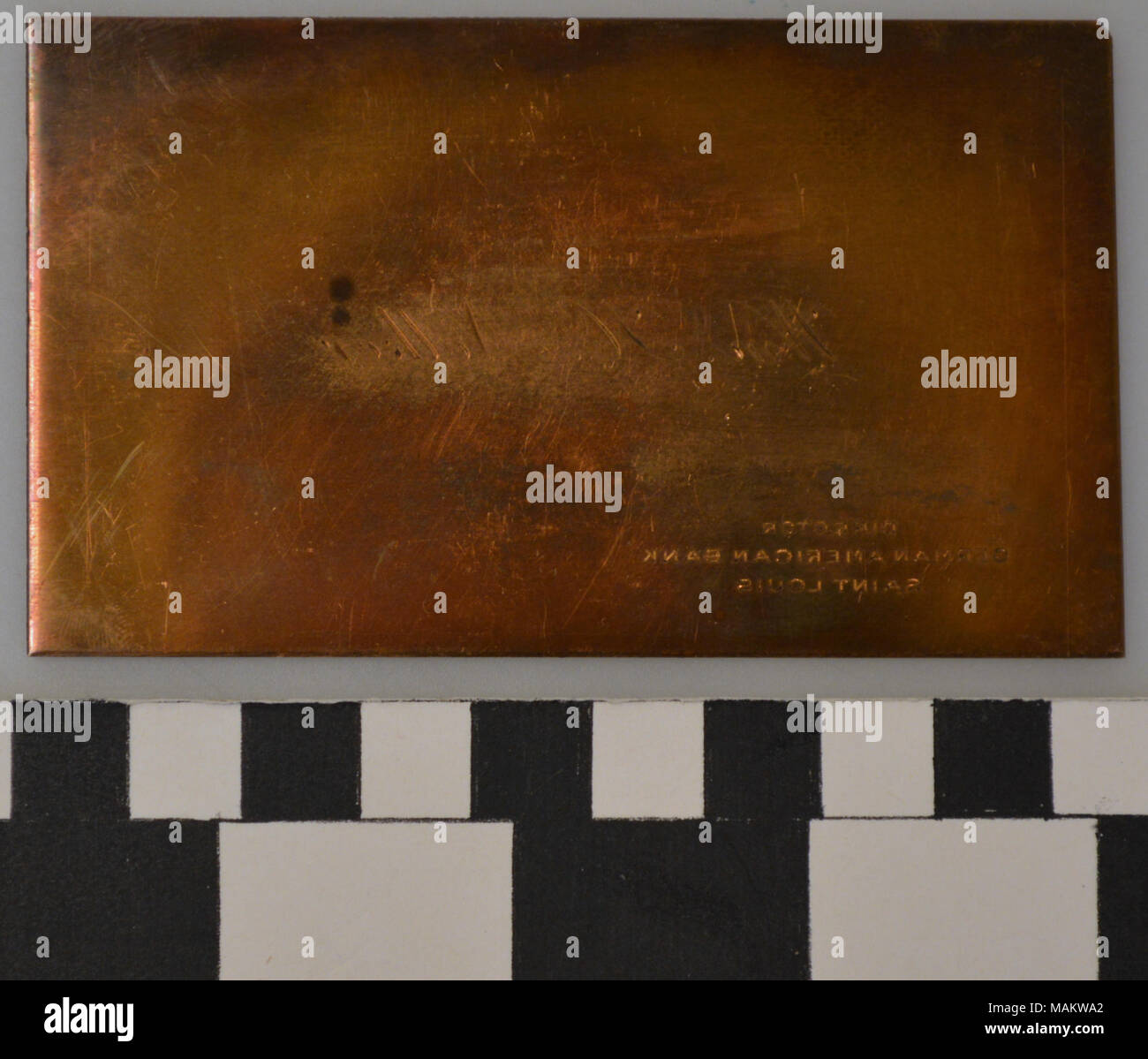 Engraved copper printing plate for business card of William H ...