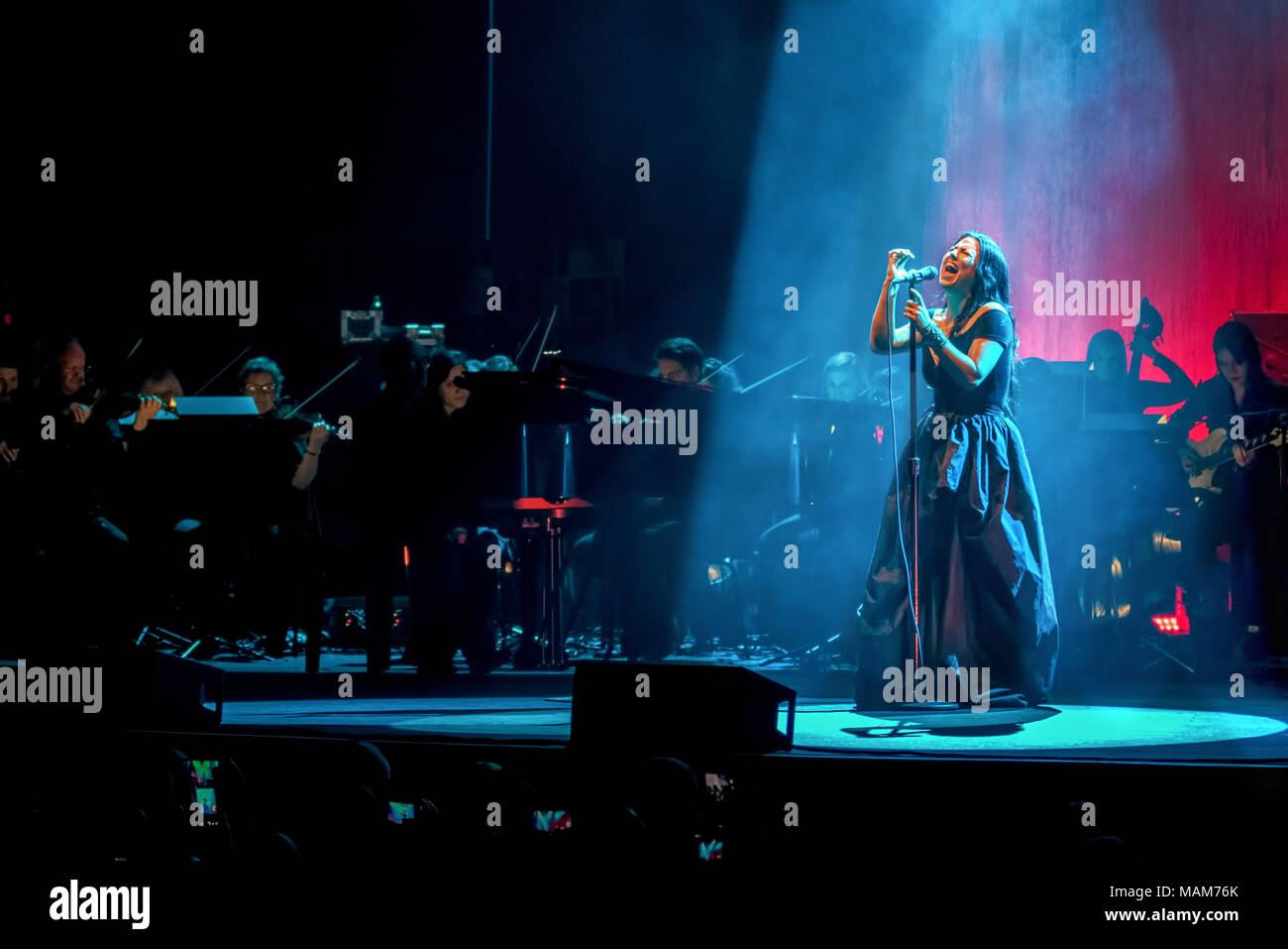 April 2, 2018 - AMY LEE lead singer of US band Evanescence live at a ...