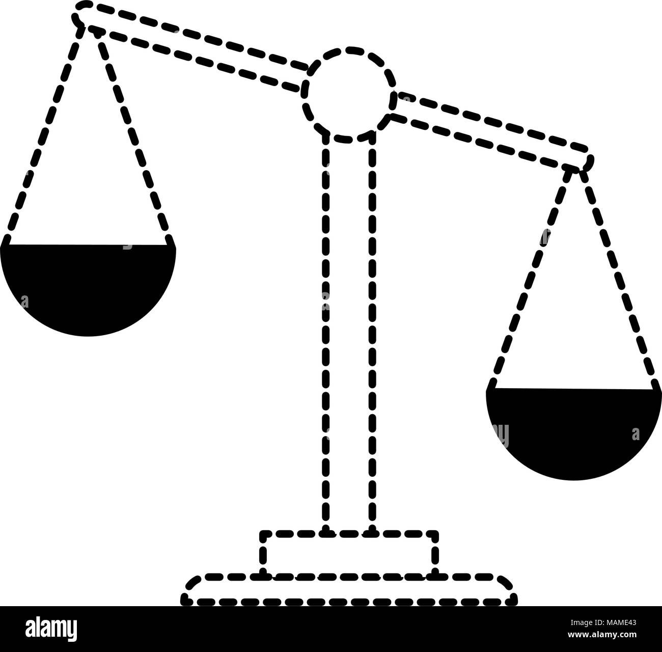 weight scale justice icon - Stock Image