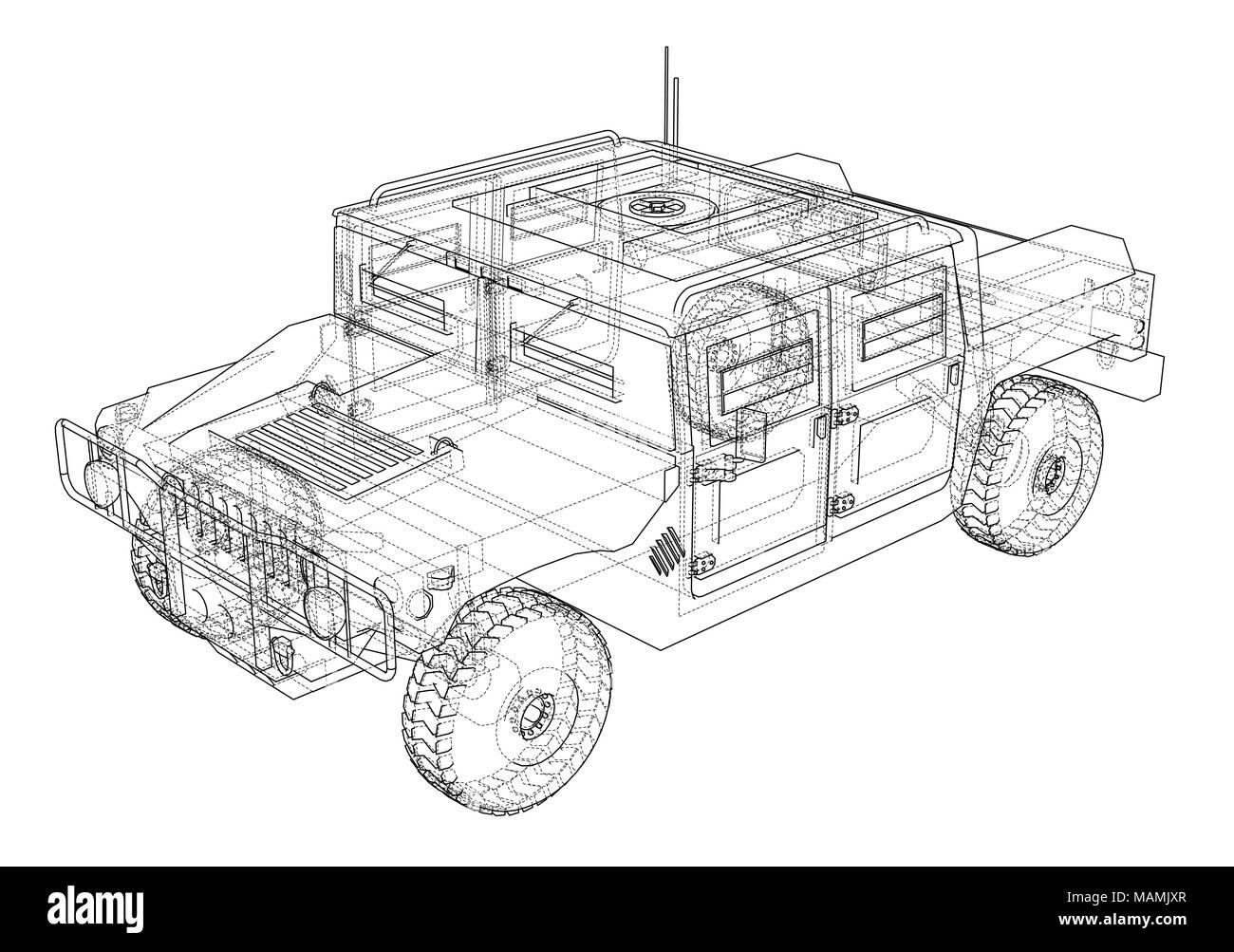 Combat car blueprint Stock Photo: 178704143 - Alamy