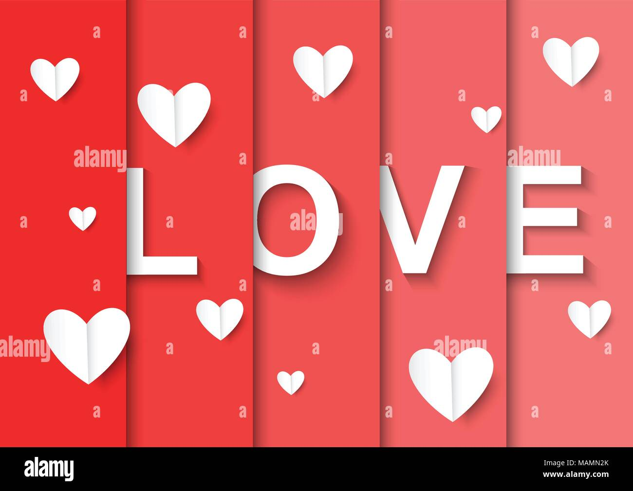 LOVE Happy Valentines day card - Stock Image