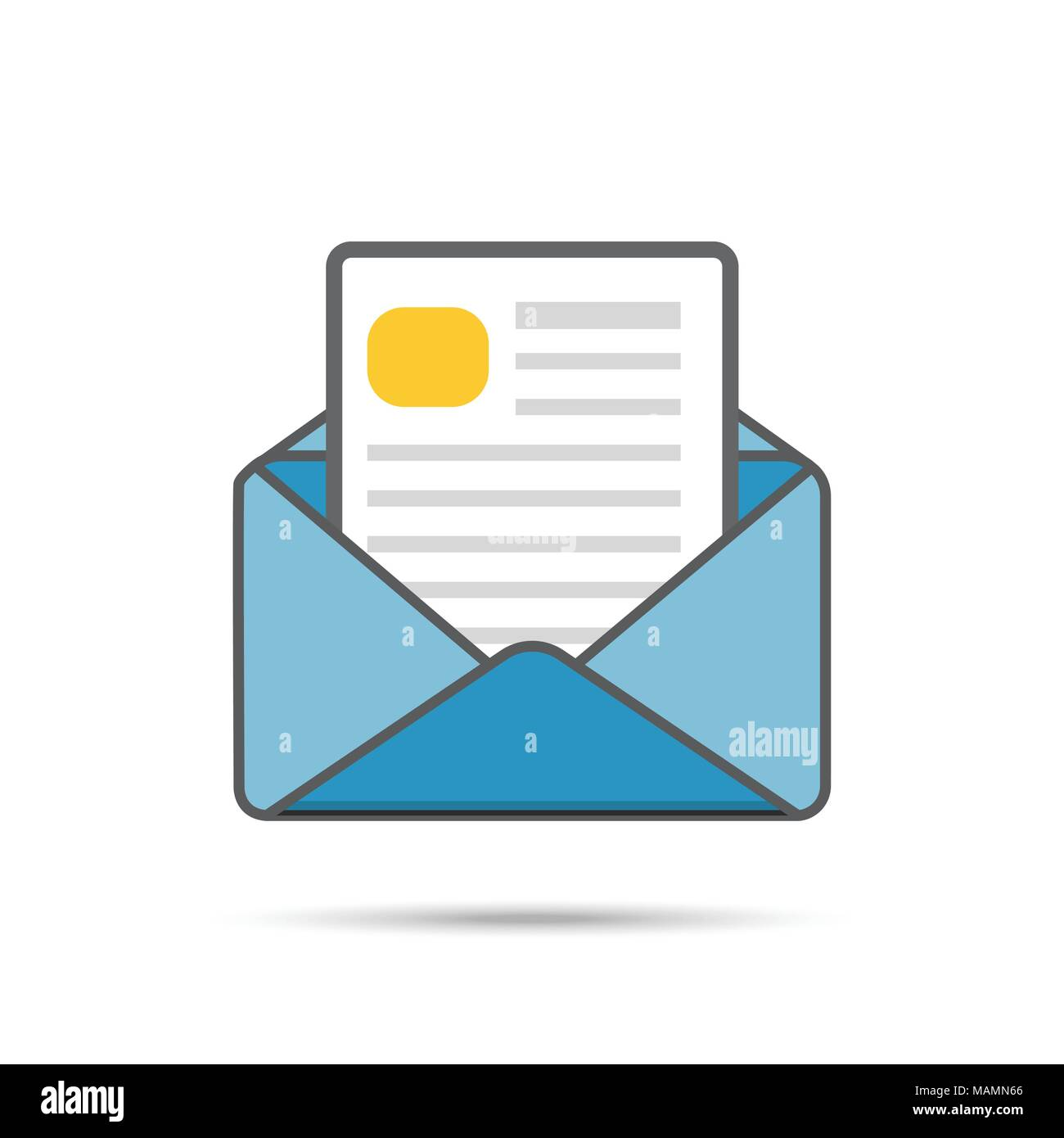 Vector email icon - Stock Image