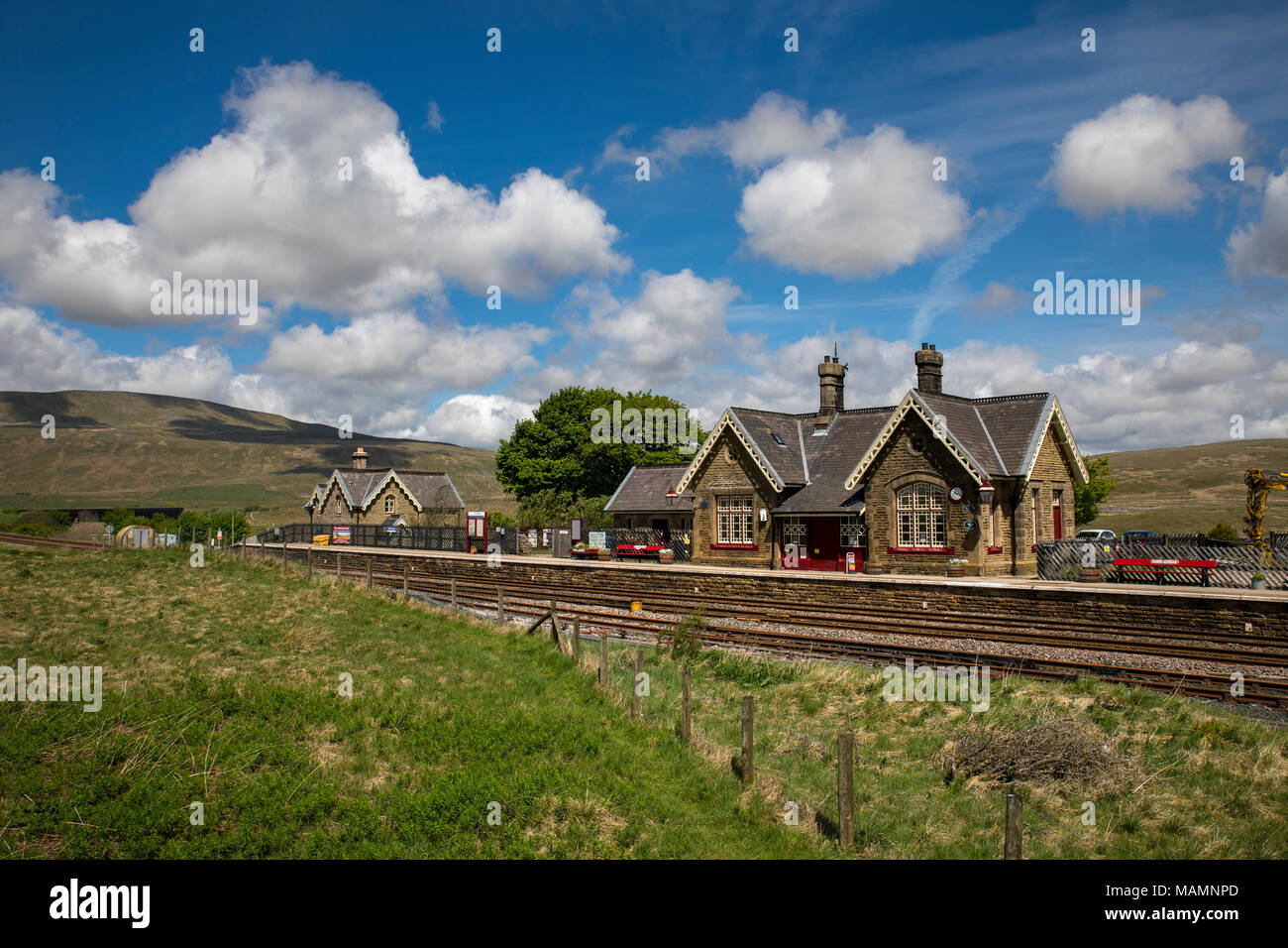 Ribblehead Station; Settle to Carlise Line; Yorkshire; UK - Stock Image