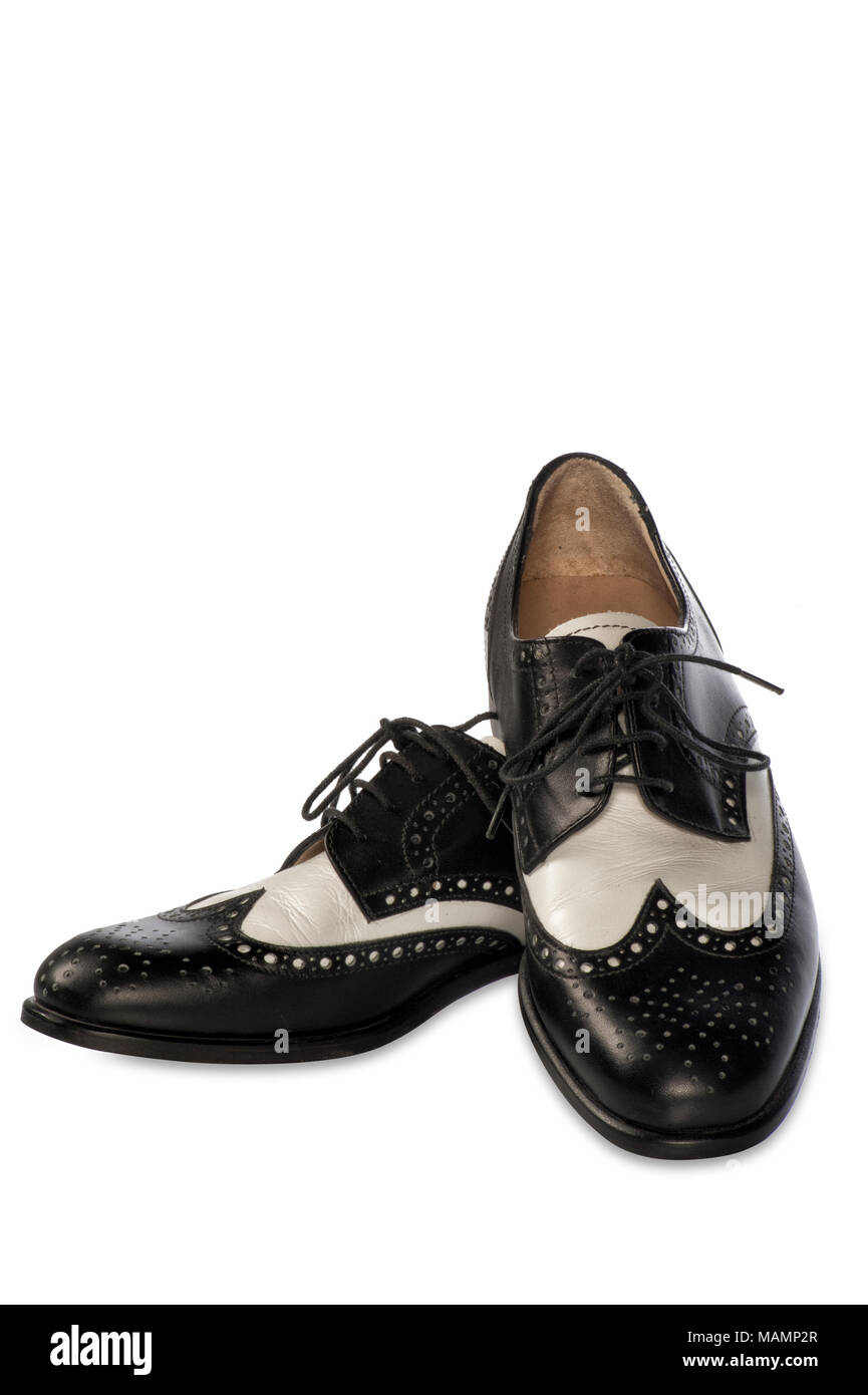 elegant two-tone shoes - Stock Image