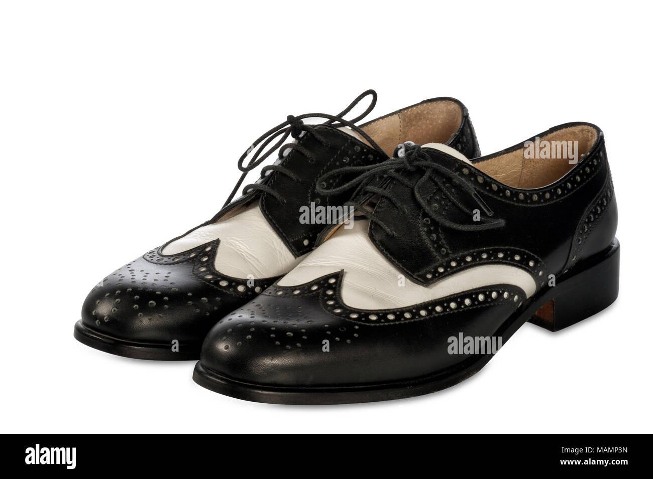 elegant two-tone shoes - Stock Image