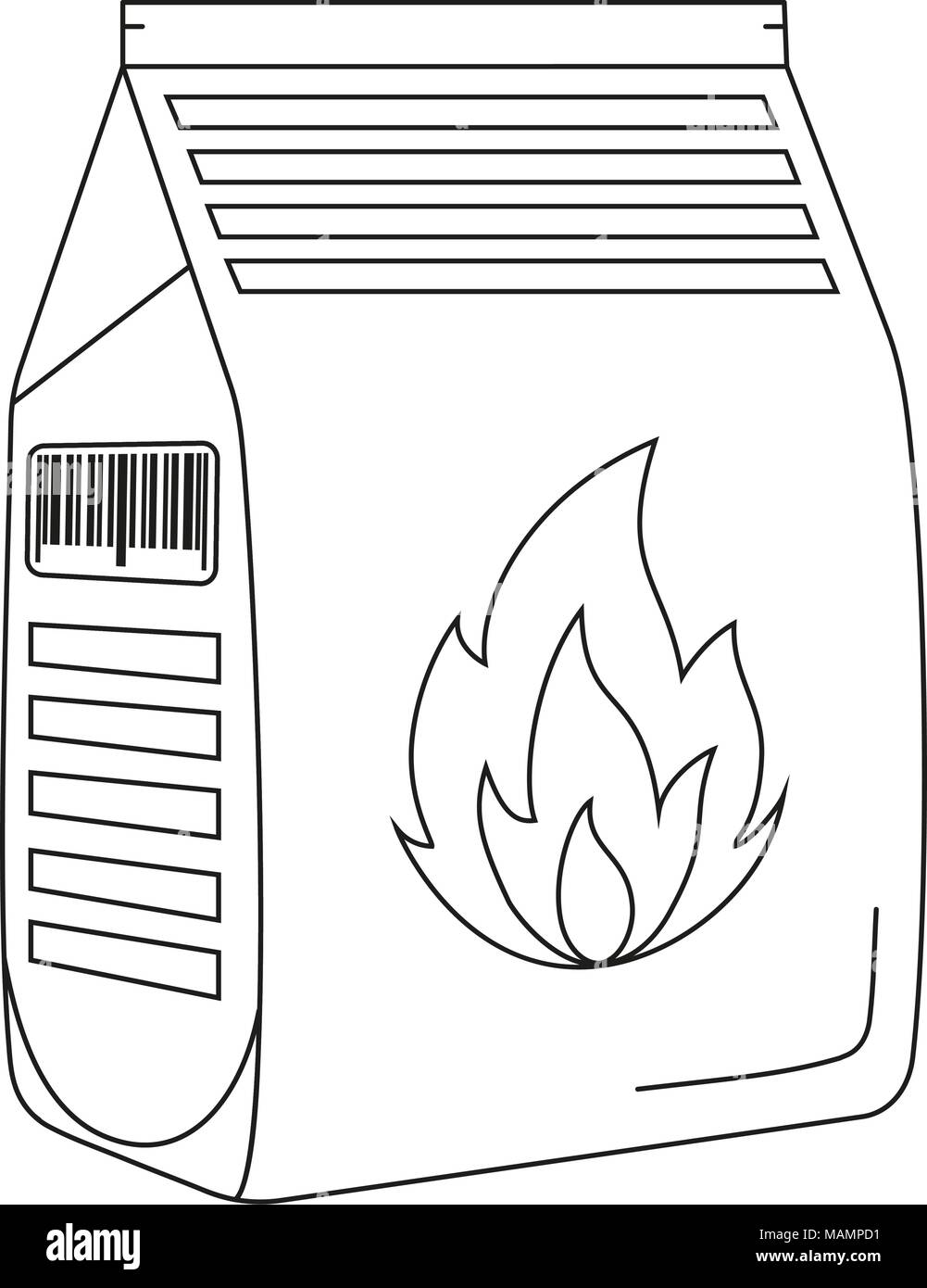 Line Art Black And White Coal Bag Outdoors Recreation Vector