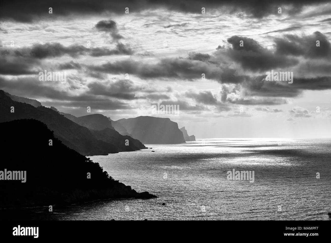 Küste auf Mallorca - Stock Image