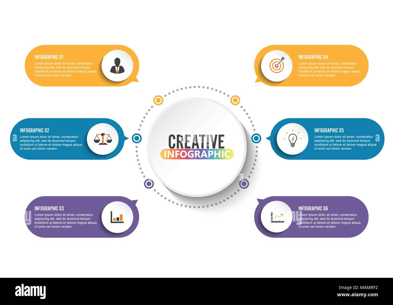 Vector infographic template with 3d paper label integrated circles vector infographic template with 3d paper label integrated circles business concept with options for content diagram flowchart steps parts tim cheaphphosting Images