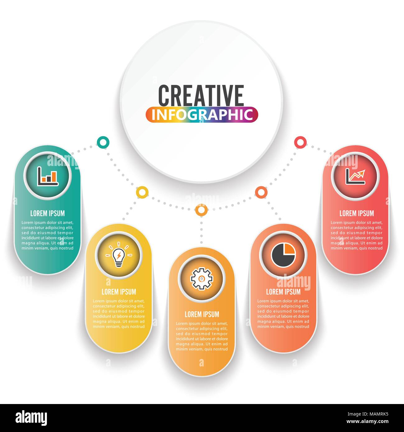 circle chart infographic template with 12 options for presentations