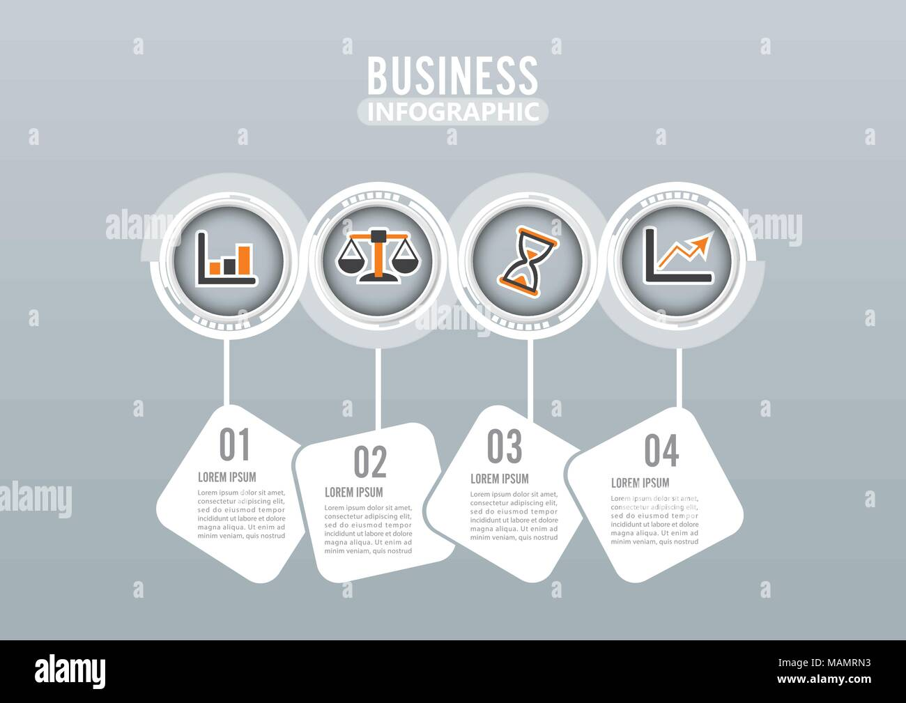 Four steps infographics design vector and marketing icons can be ...