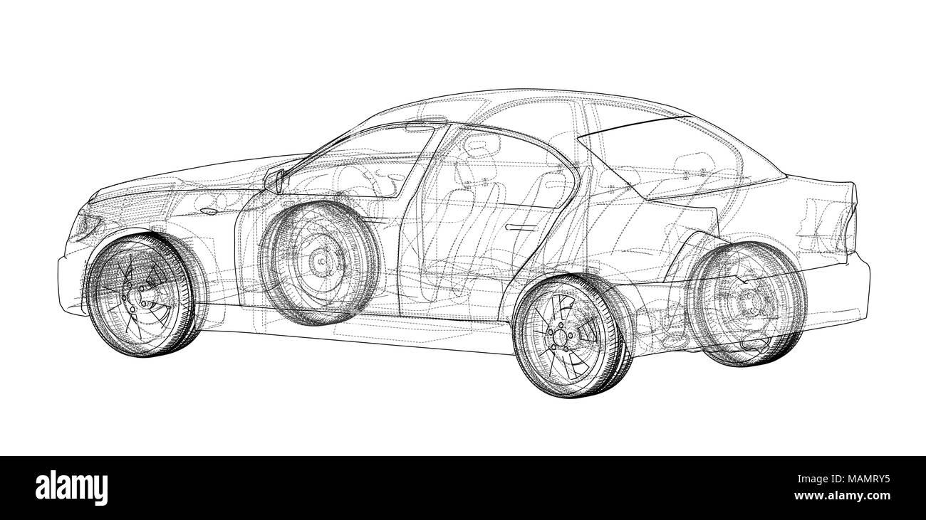 Concept car blueprint Stock Photo: 178708073 - Alamy
