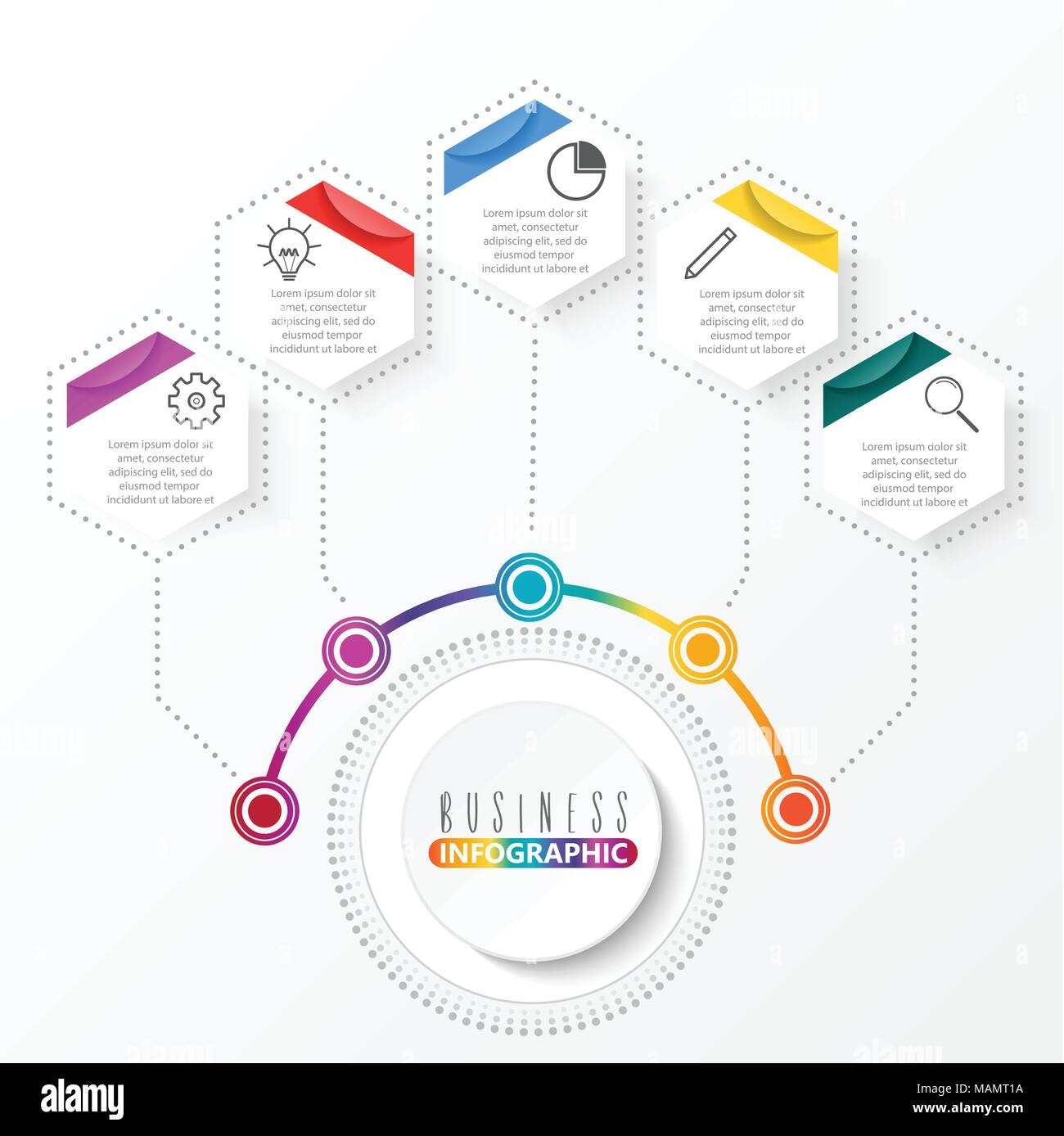 Vector infographic template with 3d paper label integrated circles vector infographic template with 3d paper label integrated circles business concept with options for content diagram flowchart steps parts accmission Gallery