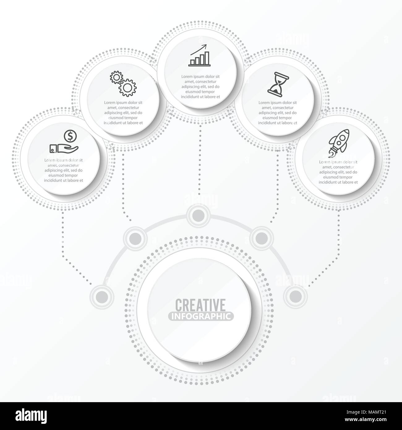 Vector infographic template with 3d paper label integrated circles vector infographic template with 3d paper label integrated circles business concept with options for content diagram flowchart steps timeline wajeb Images