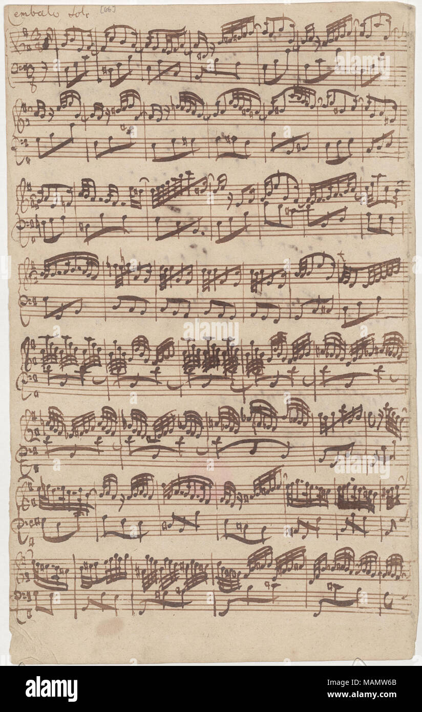 Autograph manuscript of the first page of the Allegro for