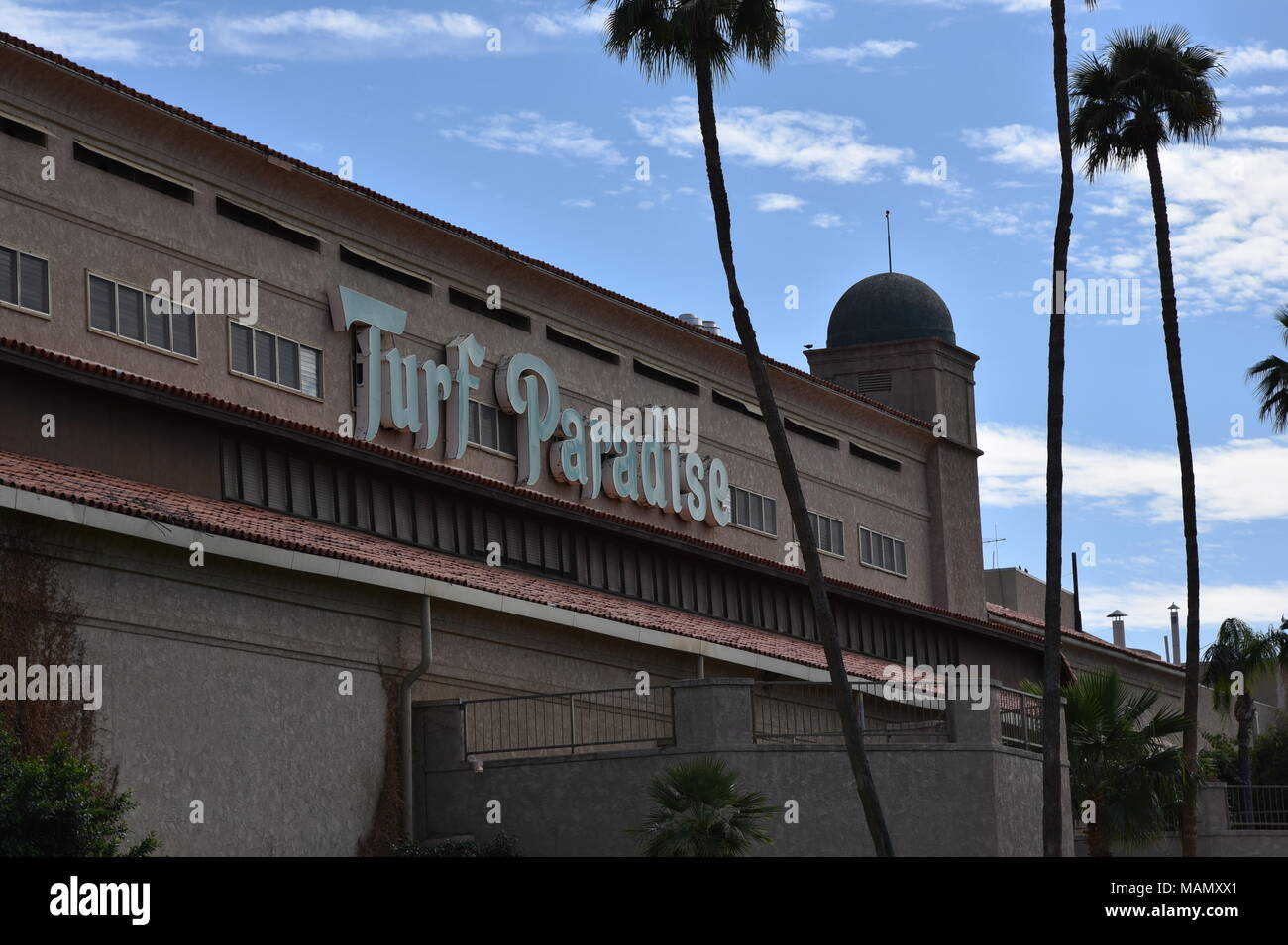 Turf Paradise Horse Race track in Phoenix Arizona 4/1/18 Stock Photo