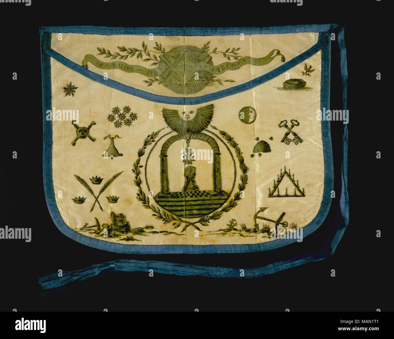 Masonic apron owned by Meriwether Lewis  Lewis was inducted
