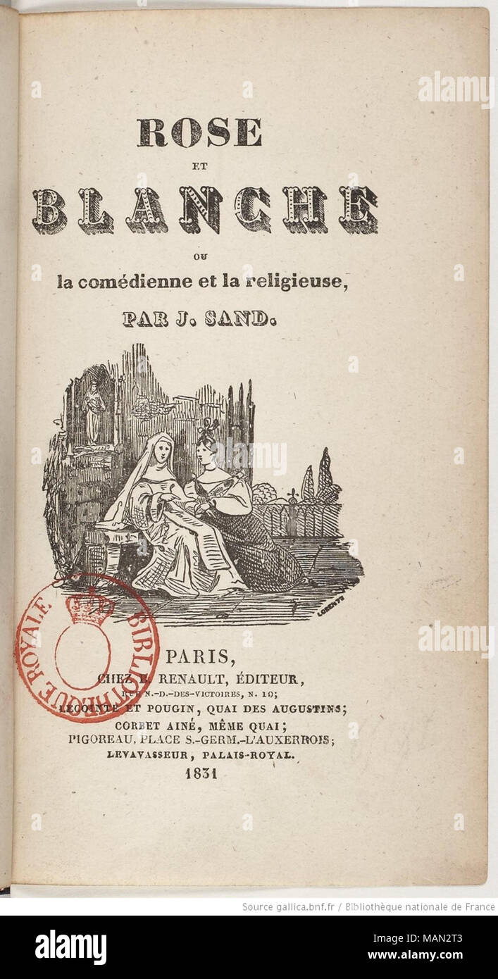 Cover Of The Book Rose Et Blanche Or The Comedian And The
