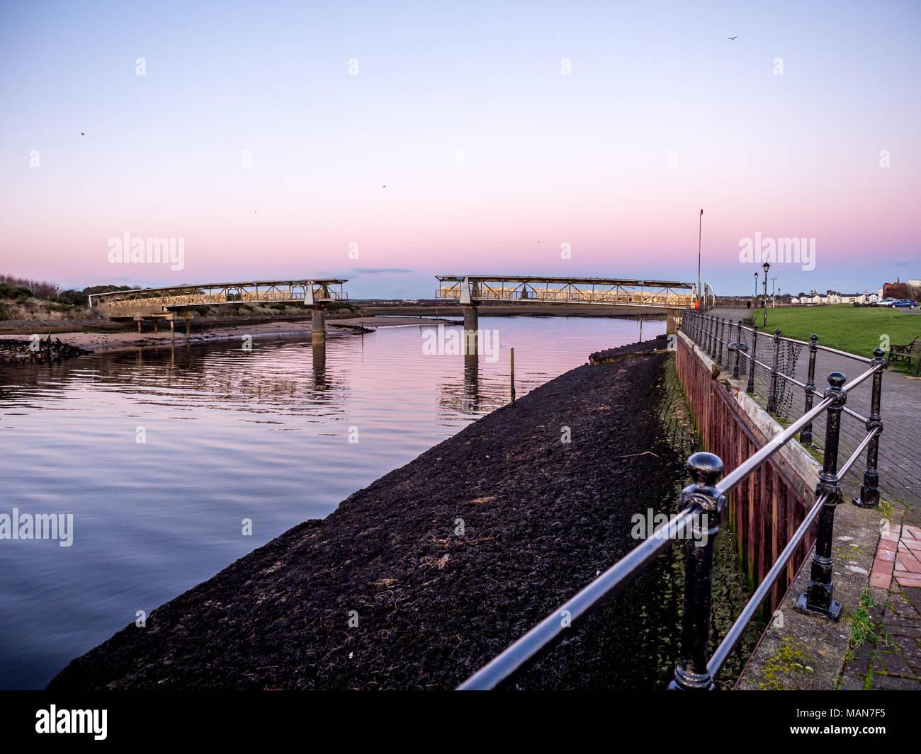 Irvine harbour Bridge Stock Photo