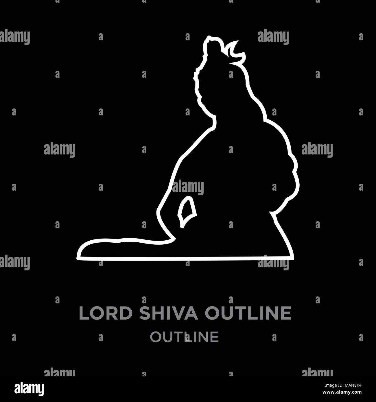 Lord shiva black and white stock photos images alamy