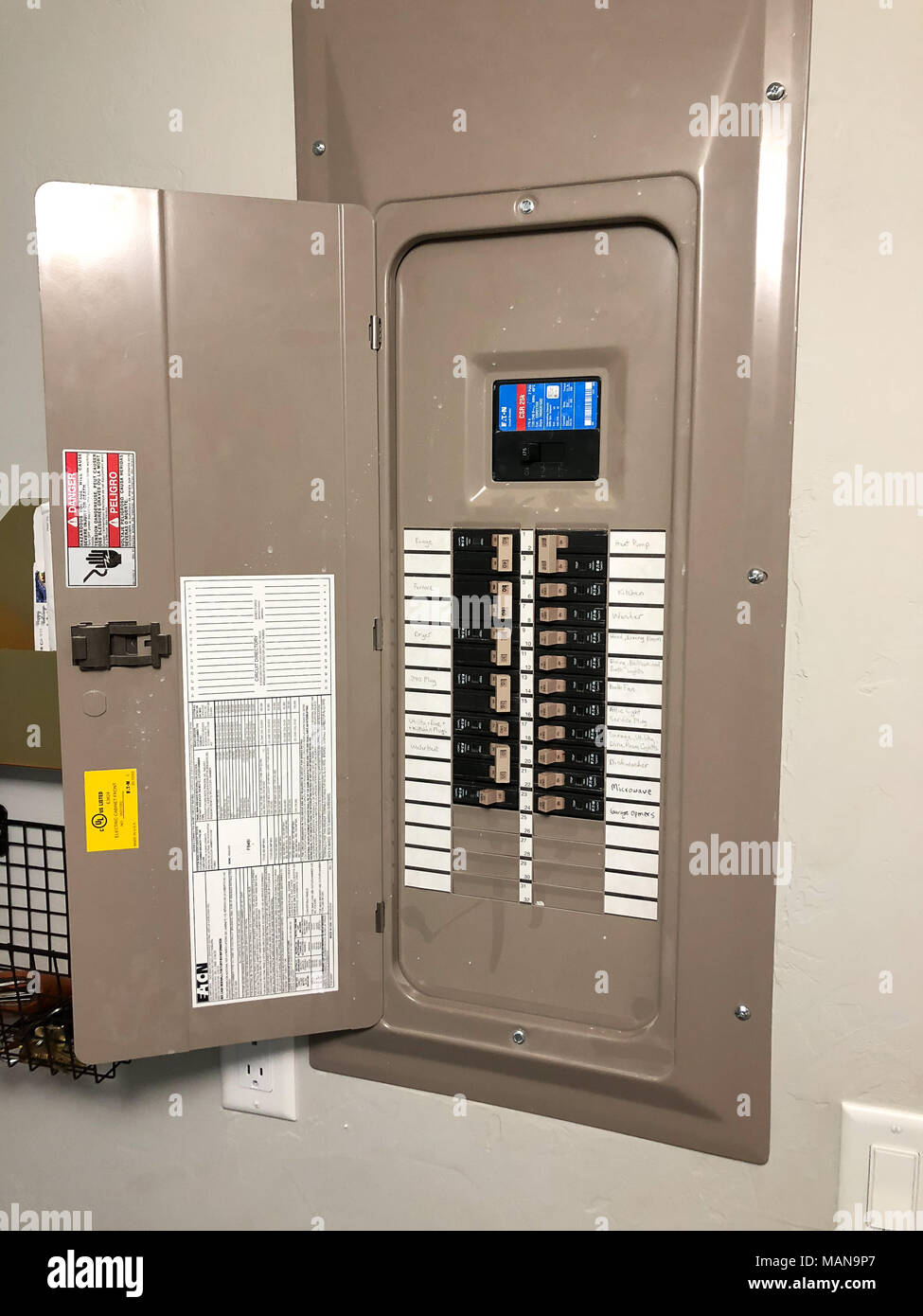 Electrical Panel House Renovation Stock Photo: 178718911 - Alamy