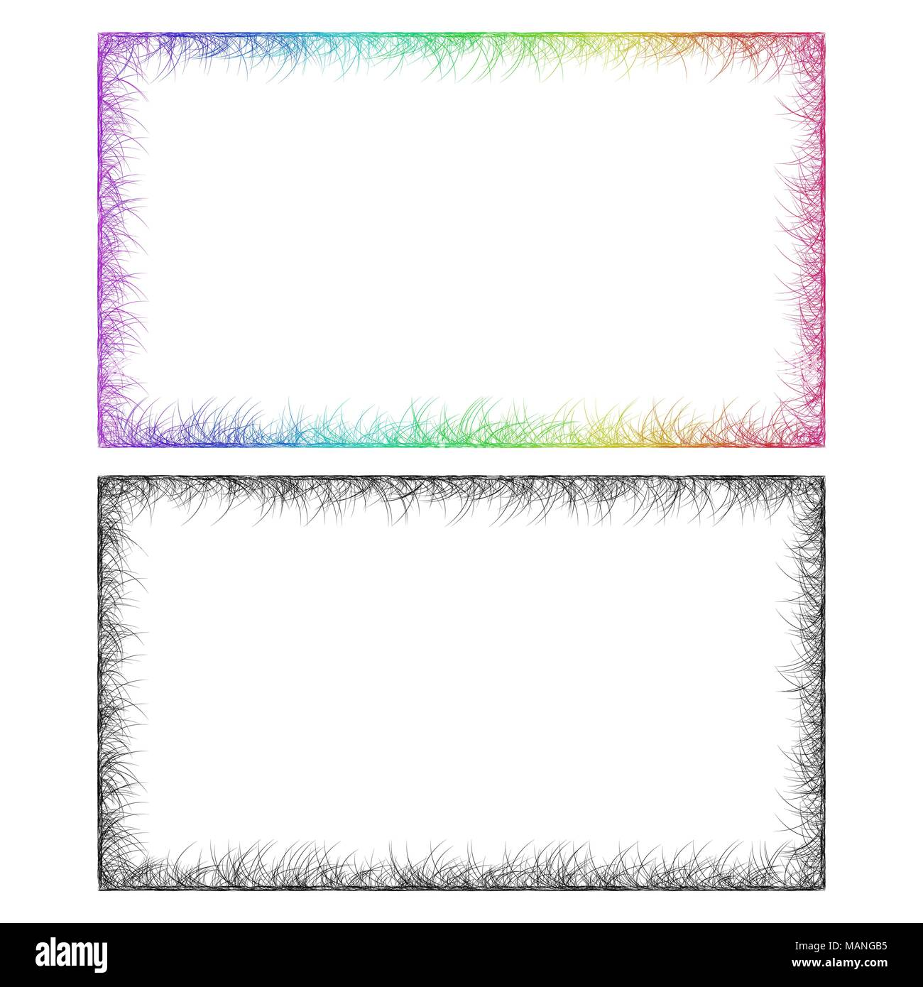 colorful page border. Colorful and monochrome card frame designs  Stock Vector Abstract Rainbow Page Border Images Alamy