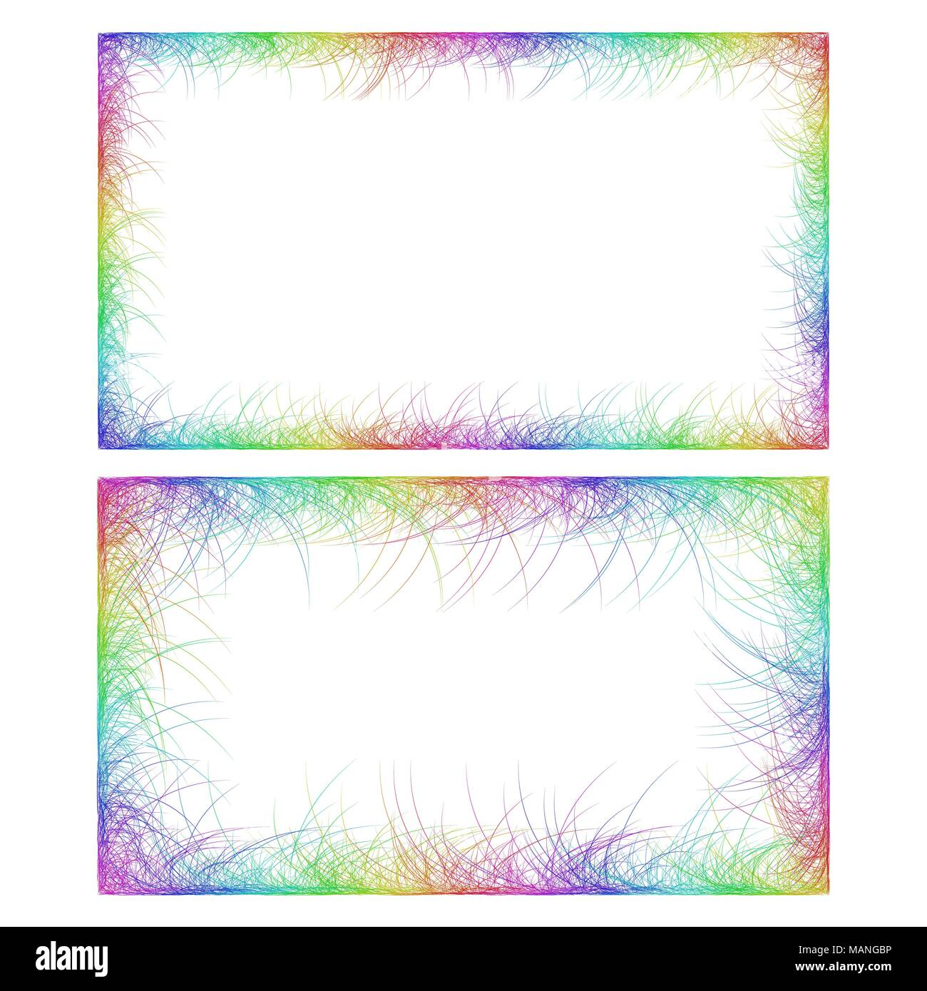 Business card border templates in rainbow colors stock vector art business card border templates in rainbow colors cheaphphosting