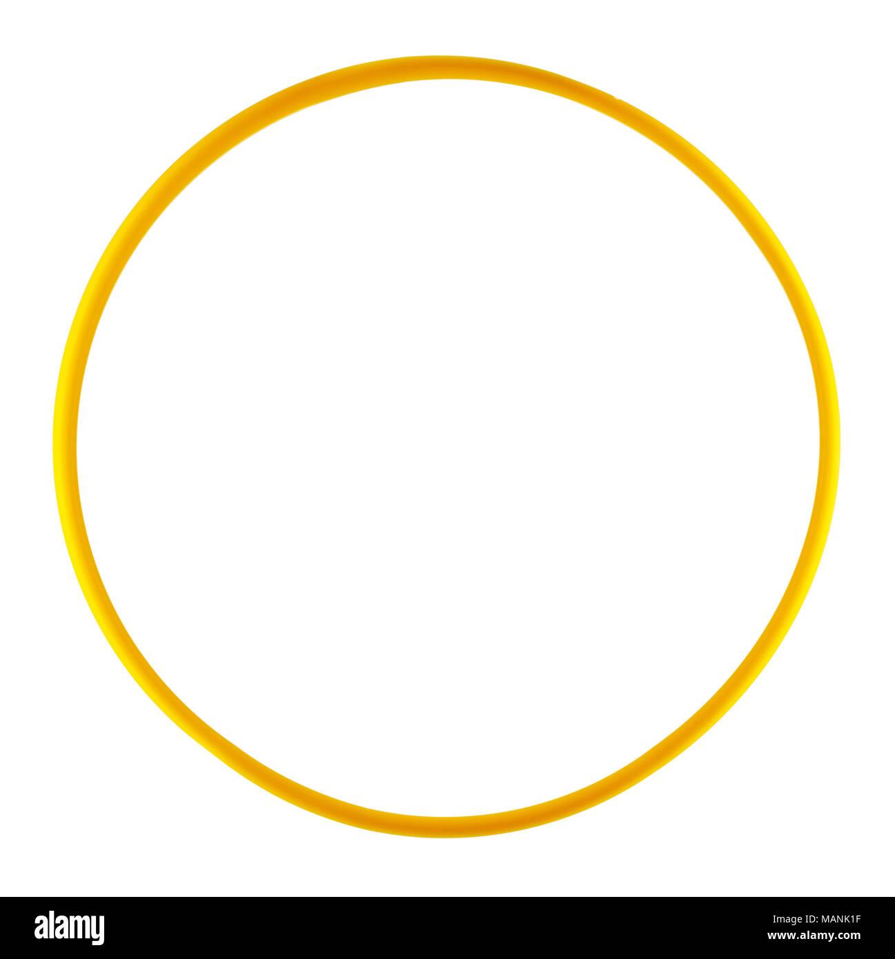 Plastic bangle  isolated on white background - Stock Image